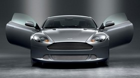 aston martin, db9, 2008, gray, front view, sports, aston martin, car - wallpapers, picture