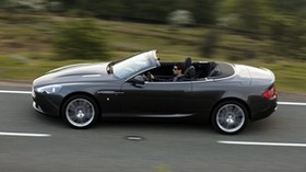 aston martin, db9, 2010, black, side view, auto, asphalt, speed - wallpapers, picture