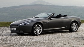 aston martin, db9, 2010, black, side view, style, auto, aston martin, sport, nature, mountains - wallpapers, picture