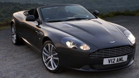 aston martin, db9, 2010, black, front view, style, auto, aston martin, mountains - wallpapers, picture