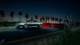 aston martin, db9, car, night, road, side view - wallpapers, picture