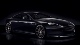 aston martin, db9, black, side view, carbon black - wallpapers, picture