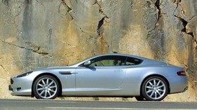 aston martin, db9, silver metallic, side view, style, auto, rock - wallpapers, picture