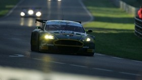 aston martin, dbr9, 2005, green, front view, style, aston martin, sports, cars, track, race - wallpapers, picture