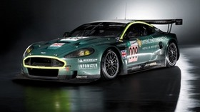 aston martin, dbr9, 2007, green, side view, style, sport, car - wallpapers, picture