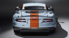 aston martin, dbr9, 2008, white, rear view, style, sport, aston martin, auto - wallpapers, picture