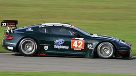aston martin, dbrs9, 2005, black, side view, style, aston martin, sports, auto, speed, grass - wallpapers, picture