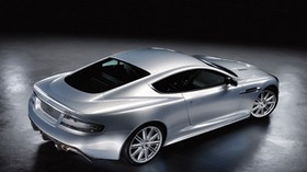 aston martin, dbs, 2008, silver metallic, top view, style, aston martin, car - wallpapers, picture