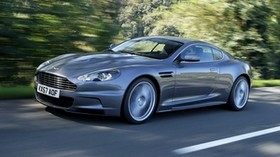 aston martin, dbs, 2008, gray, side view, sports, aston martin, cars, trees - wallpapers, picture