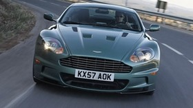 aston martin, dbs, 2008, green, front view, aston martin, asphalt - wallpapers, picture