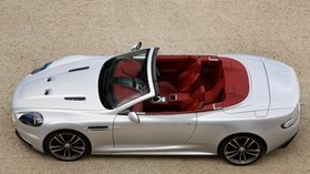 aston martin, dbs, 2009, silver metallic, top view, auto, sports, aston martin - wallpapers, picture