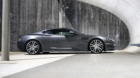 aston martin, dbs, 2009, gray, side view, car - wallpapers, picture