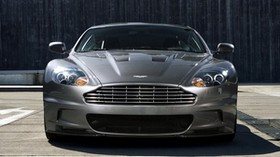 aston martin, dbs, 2009, gray, front view, car - wallpapers, picture