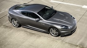 aston martin, dbs, 2009, gray, top view, style, aston martin, asphalt - wallpapers, picture