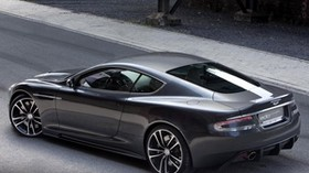aston martin, dbs, 2010, metallic gray, side view, style, aston martin, asphalt - wallpapers, picture