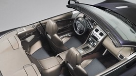aston martin, dbs, 2010, gray, salon, interior, top view, steering wheel, speedometer - wallpapers, picture