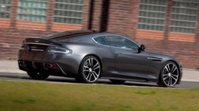 aston martin, dbs, 2010, gray, side view, aston martin, auto, grass, building - wallpapers, picture
