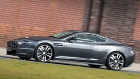 aston martin, dbs, 2010, gray, side view, style, aston martin, grass - wallpapers, picture