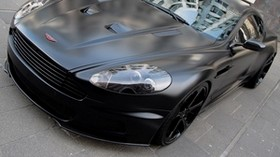 aston martin, dbs, 2011, black, front view, style, aston martin, reflection - wallpapers, picture