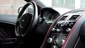 aston martin, dbs, 2011, salon, interior, speedometer, steering wheel - wallpapers, picture