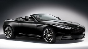 aston martin, dbs, carbon edition, black, convertible, side view - wallpapers, picture