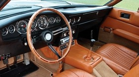 aston martin, dbs, v8, 1969, interior, steering wheel, speedometer - wallpapers, picture