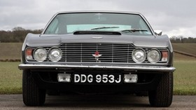 aston martin dbs, v8, 1969, gray, front view, retro, aston martin, auto - wallpapers, picture