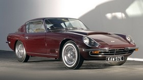 aston martin, dbsc, 1966, red, side view, style, aston martin, retro, auto, shadow - wallpapers, picture