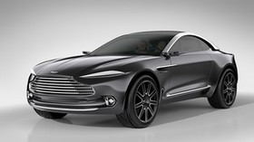 aston martin, dbx, concept, black, side view - wallpapers, picture