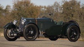aston martin, international, 1929, green, side view, retro, trees - wallpapers, picture