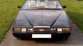 aston martin, lagonda, 1976, blue, front view, grass, aston martin - wallpapers, picture