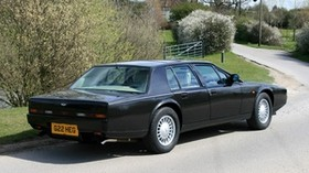 aston martin, lagonda, 1987, black, side view, auto, aston martin, nature - wallpapers, picture