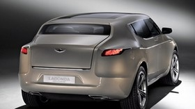 aston martin, lagonda, 2009, metallic beige, rear view, concept car, aston martin, style - wallpapers, picture