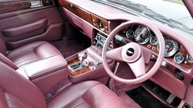 aston martin, lagonda, v8, 1974, pink, salon, interior, steering wheel, speedometer - wallpapers, picture