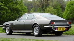 aston martin, lagonda, v8, 1974, gray, side view, auto, retro, aston martin, nature - wallpapers, picture