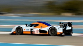 aston martin, lmp1, 2009, white, side view, style, aston martin, speed, trees - wallpapers, picture