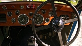aston martin, mkii, 1934, salon, steering wheel, speedometer - wallpapers, picture
