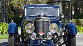 aston martin, mkii, 1934, blue, front view, auto, aston martin, grass - wallpapers, picture
