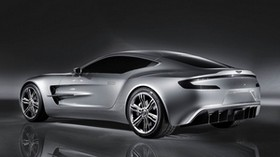 aston martin, one-77, 2008, concept car, side view, style, aston martin, reflection - wallpapers, picture