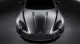 aston martin, one-77, 2008, gray, top view, concept car, aston martin, style - wallpapers, picture
