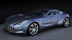 aston martin, one-77, 2009, metallic blue, side view, sports, aston martin, auto - wallpapers, picture