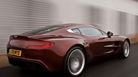 aston martin, one-77, 2009, red, side view, style, aston martin, speed - wallpapers, picture