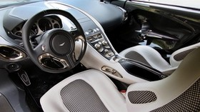 aston martin, one-77, 2009, interior, steering wheel, speedometer - wallpapers, picture