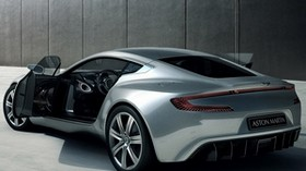 aston martin, one-77, 2009, silver metallic, side view, style, aston martin, auto - wallpapers, picture