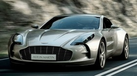 aston martin, one-77, 2009, metallic gray, front view, style, aston martin, speed - wallpapers, picture