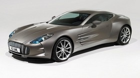aston martin, one-77, 2009, gray, side view, sports, aston martin, auto - wallpapers, picture