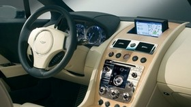 aston martin, rapide, 2006, beige, salon, interior, concept car, steering wheel, speedometer - wallpapers, picture
