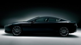 aston martin, rapide, 2006, black, concept car, side view, aston martin, style - wallpapers, picture