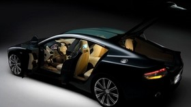 aston martin, rapide, 2006, black, side view, concept car, aston martin, style - wallpapers, picture