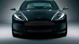 aston martin, rapide, 2006, black, front view, concept car, auto, aston martin - wallpapers, picture